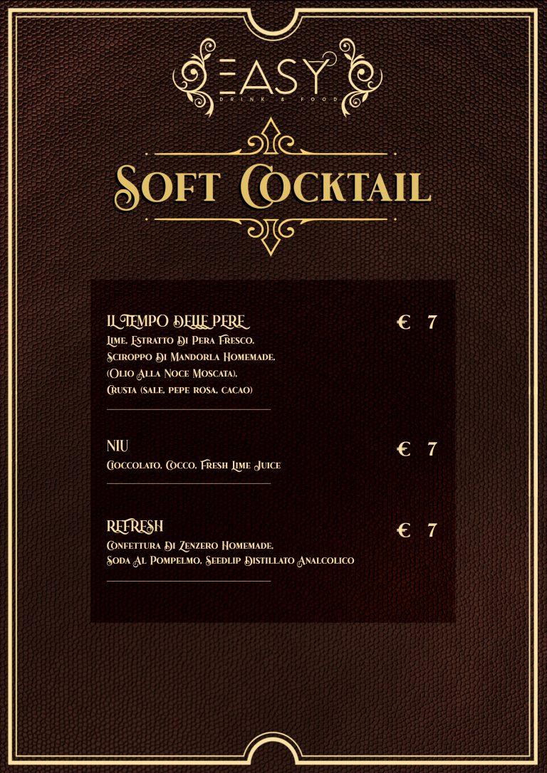 SOFT COCKTAIL DRINK LIST